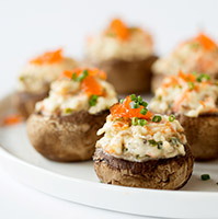 Smoked Salmon Stuffed Mushrooms